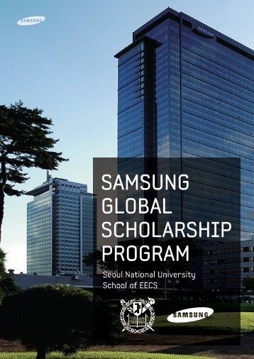 SAMSUNG GLOBAL SCHOLARSHIP PROGRAM