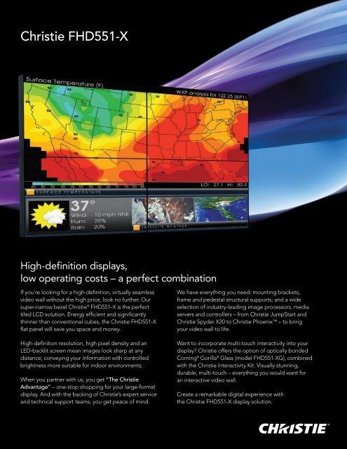 Christie FHD551-X and XG Brochure - Christie Digital Systems