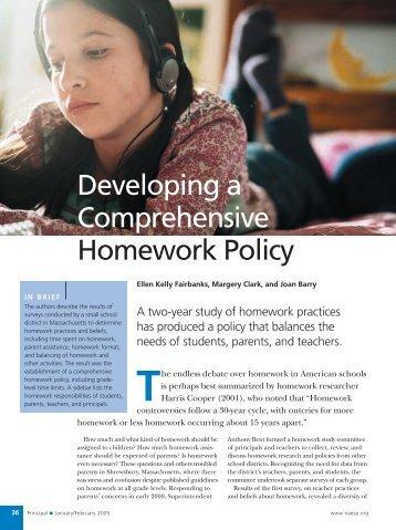 Developing a Homework Policy - Greenwich Public Schools