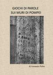 Armando Polito – Giochi di parole sui muri di Pompei - Vesuvioweb