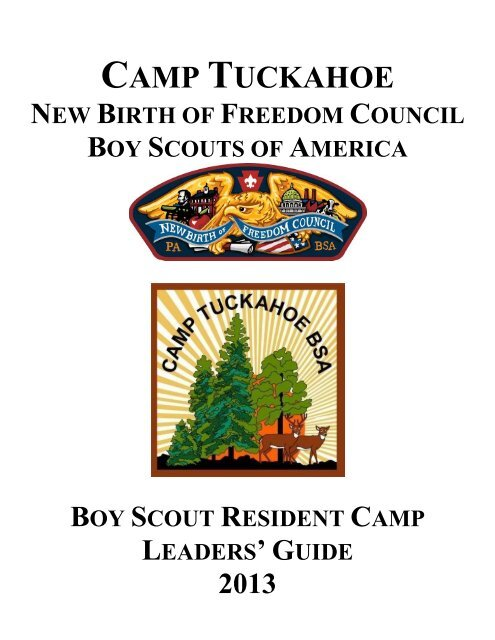 Boy Scout Summer Camp Leaders Guide - New Birth of Freedom