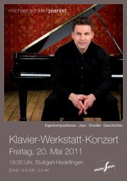 Download Flyer 'Klavier-Werkstatt-Konzert - Michael Schlierf