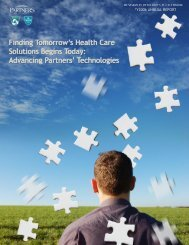View the new FY06 RVL Annual Report - Partners HealthCare