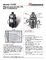 Fairchild Model T5700 I/P Transducer
