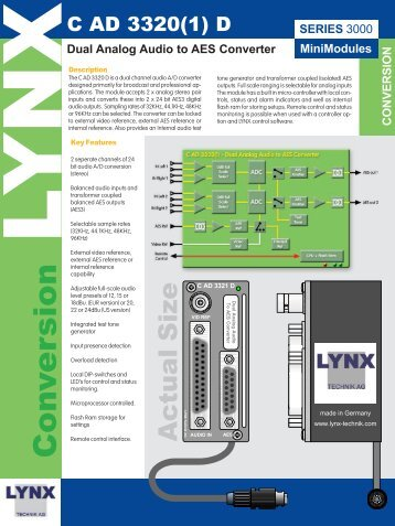 MiniModules SERIES - LYNX Technik AG