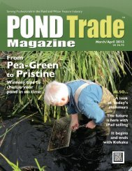 Download the March / April, 2013 PDF - Pond Trade Magazine