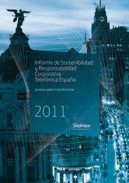 Informe de Sostenibilidad y Responsabilidad Corporativa Telefónica ...