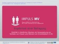 Elke-Annette Schmidt (IMPULS MV): Mobilität in ländlichen Räumen ...