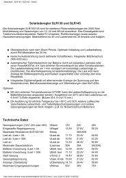 Datenblatt - SLR130 / SLR145 - Seite2