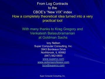 New VIX Presentation - Super Computer Consulting, Inc