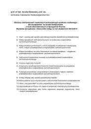 prof. dr hab. Aurelia Bielawska, prof. zw. KATEDRA FINANSÓW ...