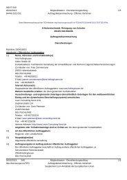 D-Hohenlockstedt: Reinigung von Schulen - Amt Kellinghusen