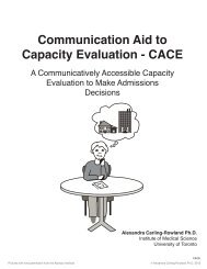 Communication Aid to Capacity Evaluation - CACE - Aphasia Institute