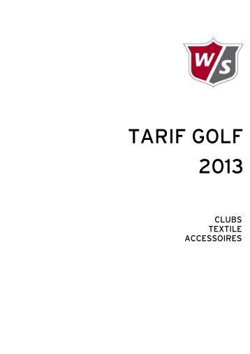 TARIF GOLF 2013