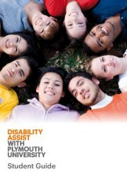 Disability Assist Student Guide (pdf) - Plymouth University