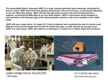 Model Parts. - James Webb Space Telescope - NASA