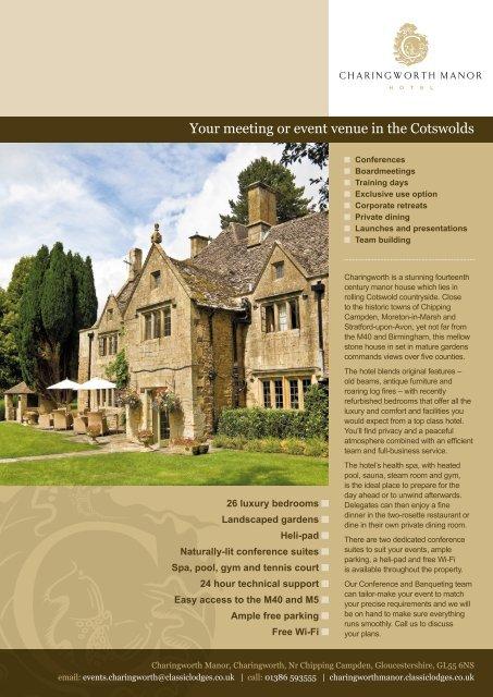 Charingworth Manor - Classic Lodges