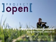 IT Lifecycle Management - Project Open