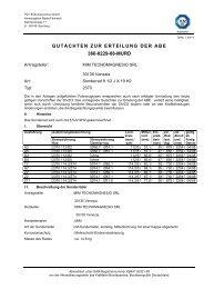 GUTACHTEN ZUR ERTEILUNG DER ABE 366-0229-08-MURD