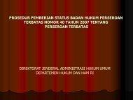 alur pengesahan status badan hukum perseroan ... - Indonesia Kreatif