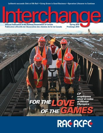 FOR THELOVE OF THEGAMES - Railway Association of Canada