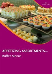 Click here to download our Buffet Menus - The Rosebank