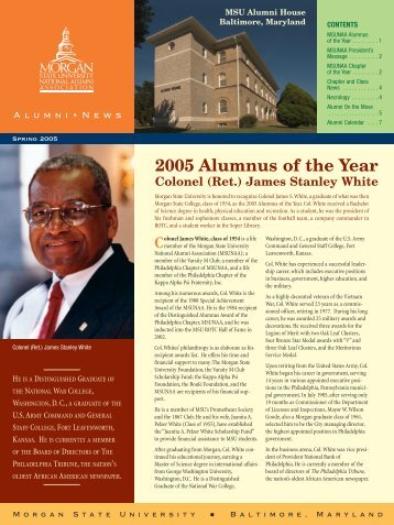 2005 Alumnus of the Year - Morgan State University