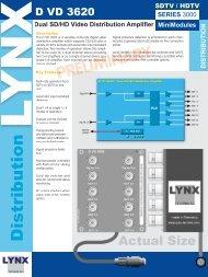 Dual SD/HD Video Distribution Amplifier - LYNX Technik AG