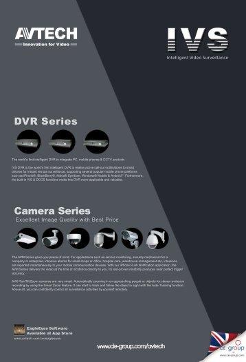 DVR Series Camera Series - CIE-Group