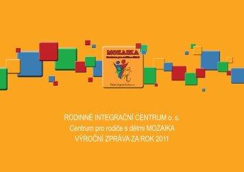 Výroční zpráva RIC 2011 - Rodinné Integrační Centrum os