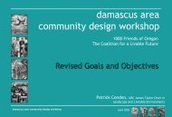 damascus area community design workshop - james taylor chair in ...