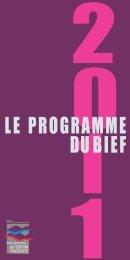 Téléchargez le programme 2011 du BIEF