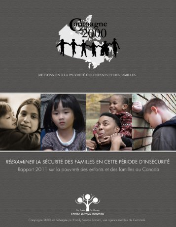 Rapport 2011 sur la pauvreté - Campaign 2000