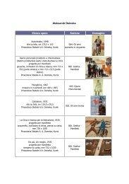 L'elenco delle opere in mostra (con immagine) - Artelab