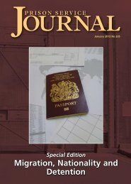 PSJ January 2013 No. 205.pdf - Centre for Crime and Justice Studies