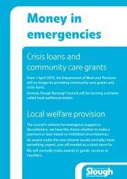 Local Welfare Provision leaflet - Slough Borough Council
