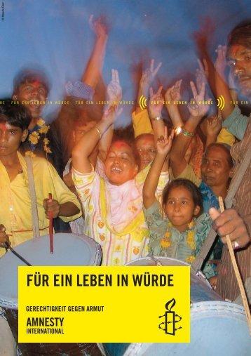Kurzbericht Dignity Kampagne - Amnesty International Schweizer ...