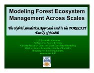 Modeling Forest Ecosystem Management Across Scales - Faculty of ...