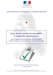 COEPIA Rapport annuel 2010 - Portail du Gouvernement