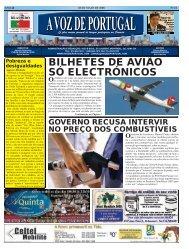 BILHETES DE AVIÃO SÓ ELECTRÓNICOS - A Voz de Portugal