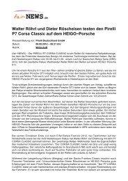 Walter Röhrl und Dieter Röscheisen testen den Pirelli ... - Fair-news.de