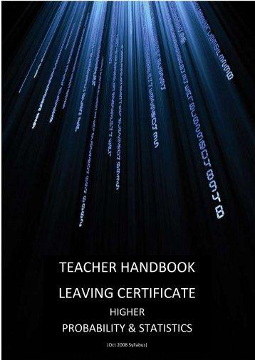 TEACHER HANDBOOK LEAVING CERTIFICATE - Project Maths