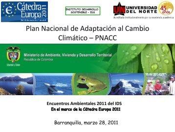 El cambio climático, sus impactos y medidas de adaptación.