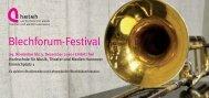 Flyer des Blechforum-Festivals - Hochschule für Musik, Theater und ...