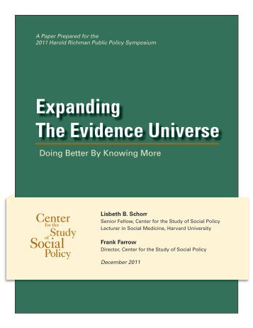 Expanding The Evidence Universe