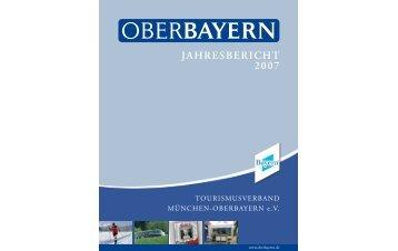 JAHRESBERICHT 2007 - Logo Tourismusverband Oberbayern