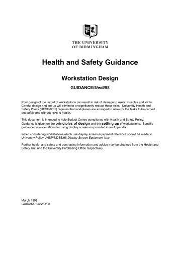 Workstation design -University guidance (PDF 143KB)