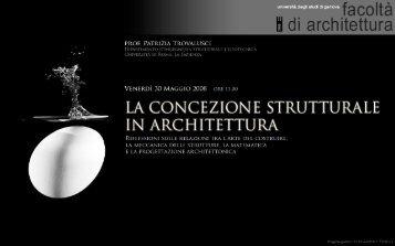 la concezione strutturale - Sede di Architettura