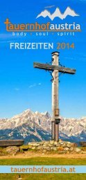 Programm Brochure - Der Tauernhof in Schladming