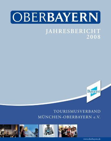 JAHRESBERICHT 2008 - Logo Tourismusverband Oberbayern
